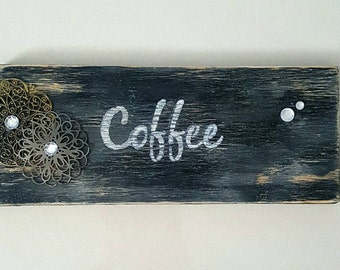 Coffee Sign Rustic Wood Decor Sign