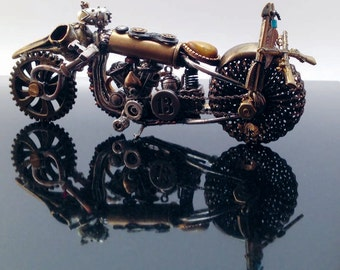 Steampunk motorcycle. Steel Horse