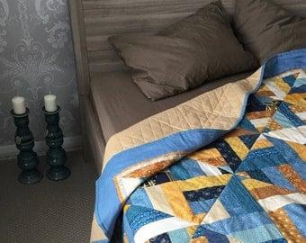 Ocean dawn quilted blanket