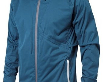 New Racer Running Jacket in Reflecting Pond Blue by Zakti Activewear (Size M)