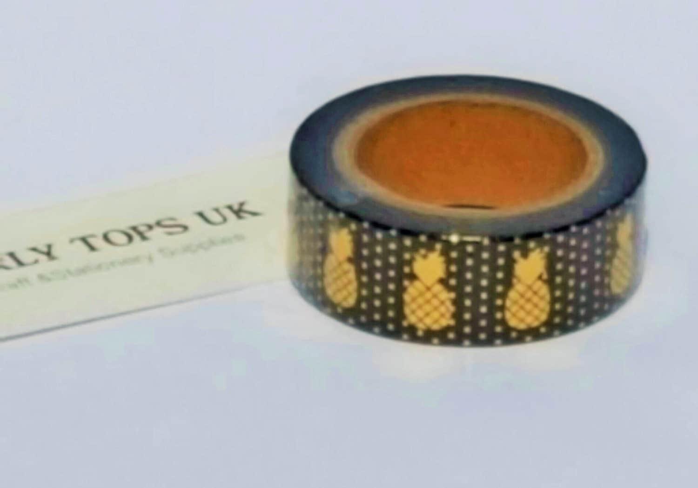 ananas washi tape gold ananas washi tape schwarz washi tape. Black Bedroom Furniture Sets. Home Design Ideas