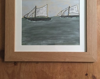 Cornish painting in Alfred Wallis style