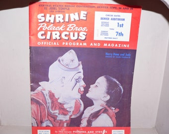 Circus Pamphlet from fundraiser Circa 1951