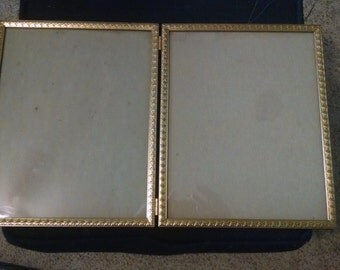 Vintage Hinged Double 8x10 Picture Frames
