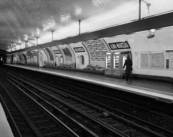 Reams of the Paris' subway station Alma-Marceau, Paris, France