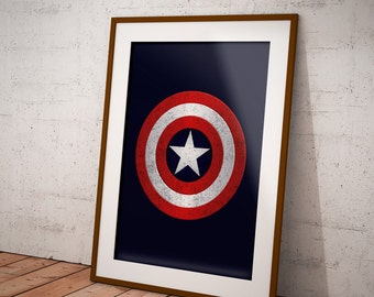 America Captain Shield Poster instant download Printable Art, Marvel Printable, Modern Wall Prints,Superhero Poster, Marvel poster.