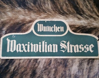 Vintage German street sign
