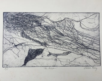 The Ridge- etching print