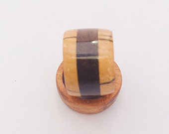 Spalted Maple with Black Walnut ring.