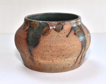 Terracotta and Green Bowl