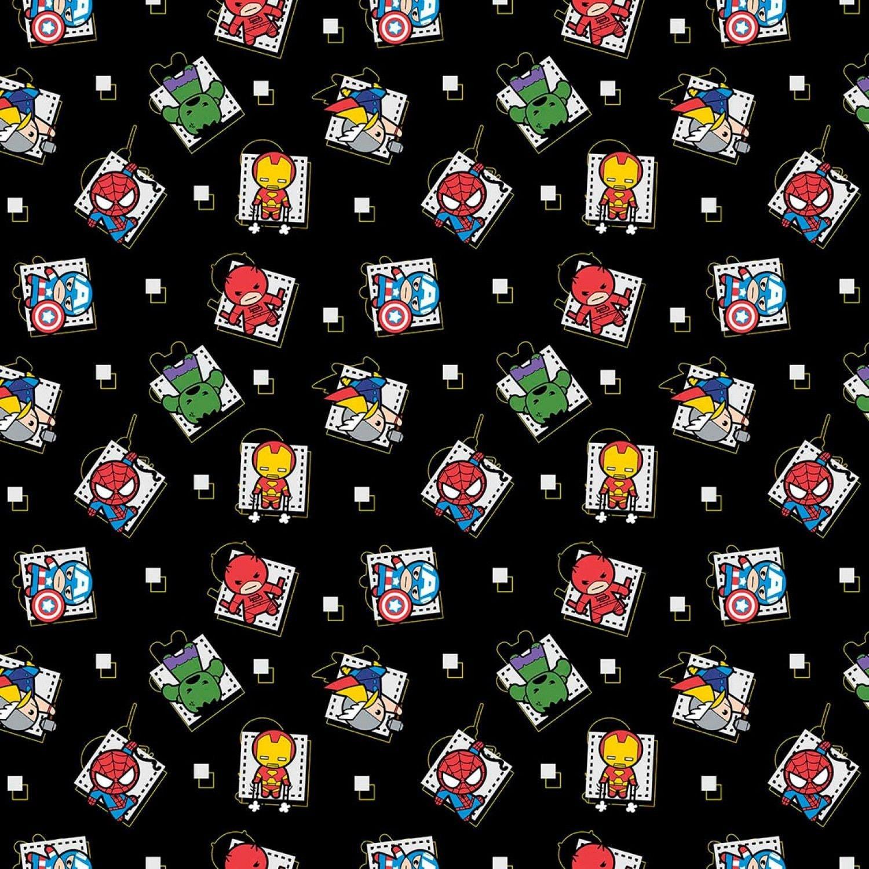 Marvel Fabric Marvel Kawaii Fabric Superhero Badge 100