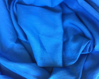 Vintage Bright Blue Scarf