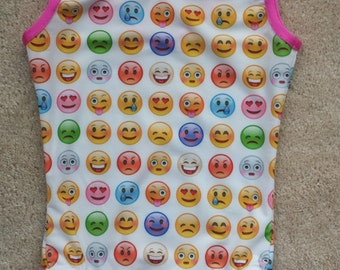 Emoji Girls Gymnastics Leotard