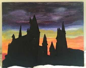 Hogwarts Silhouette Etsy