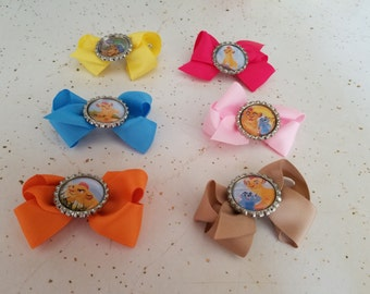 8 Pieces - Hair Bows Party Favors