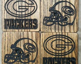 Green Bay Packers Coaster Set