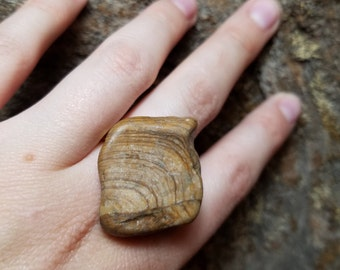 River Stone Statement Ring