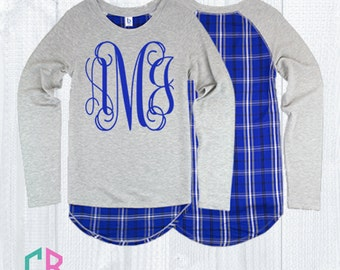 Monogram Oxford and Royal Team Player Top