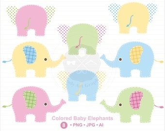 Baby Elephants Clipart, elephant clipart, baby clipart,digital download