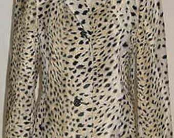 Animal print gallery COAT size M