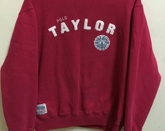 Vintage 90's Polo Taylor by Polo Jeans Company Classic Design Skate Sweat Shirt Sweater Varsity Jacket Size L #A219