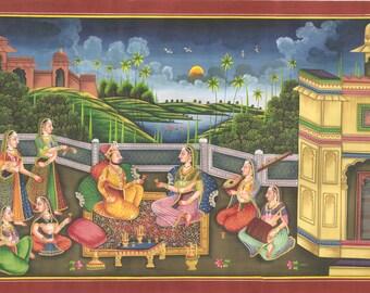 King and Queen | Rajasthani Art - Kishangarh Shailey
