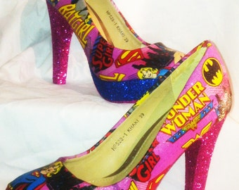 Dc superhero girls heels * * * uk sizes 3-8 * * *