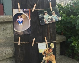 Wooden Family Photo Display Rustic Picture Display Family