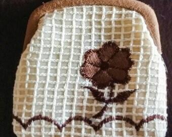 Handmade Flower design Vintage Change Purse