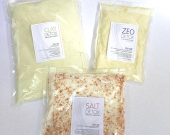 Luxury salts & clay Detox refill set for Relax Bath Salts