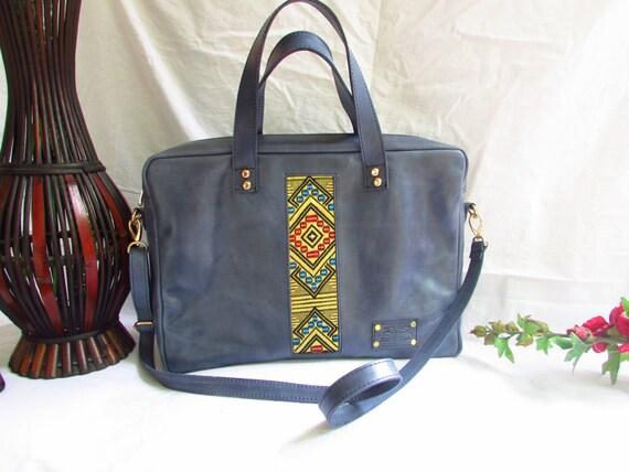 blue laptop bag, Men distressed leather bag, distressed leather laptop bag, blue Men bag, blue leather bag, blue men laptop bag, leather bag