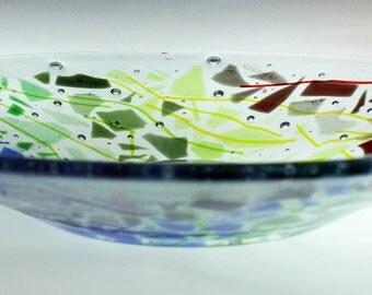 35 cm Glass bowl - Confetti Spectrum