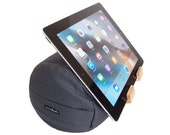 Ocean Grey - The eZView Tablet Bolster - Made in USA - Eco-Friendly - Perfect Tablet Holder for Hands-Free Viewing on Bed and Sofa