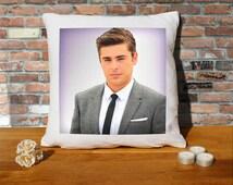 Zac Efron Cushion Pillow - Pop Art - 100% cotton - 16x16 inches