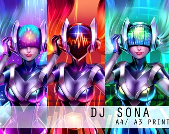 DJ SONA , A4 /A3 PRINTS