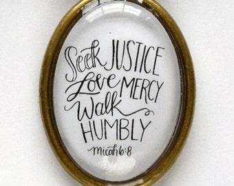 Seek Justice Necklace