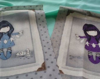 fabric patchwork with girl images