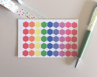 Hexagons - Multi Colored - Dots