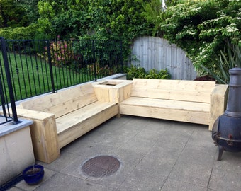 Corner sofa - Outdoor furniture, Reclaimed boards