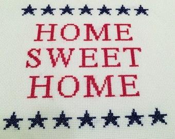 Americana Home Sweet Home Cross Stitch