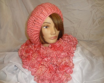 Coral Sequins boa scarf