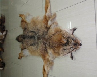 Handmade Jackal Pelt,Jackal,Animal Pelt,Soft Leather,Jackal Pelt,Hunting Trophy,Skin,Trophy Pelt,Tan Hide,Pelt