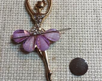 Needleminder - lilac crystal ballerina