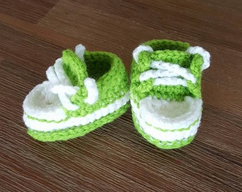 Crocheted Converse Booties