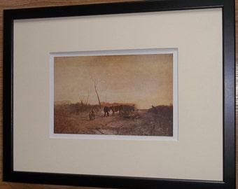 Mounted and framed print, 12''x16'' framed, Frosty Morning by Turner