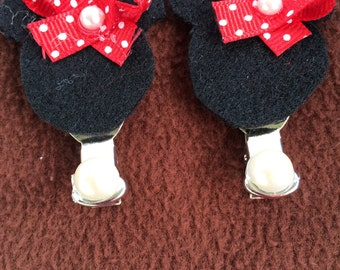 Felt and ribbon clips
