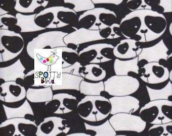 SALE!! Black & White Panda Jersey Fabric