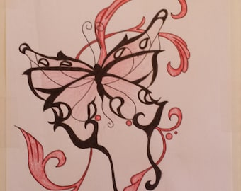 Drawing tribal Butterfly