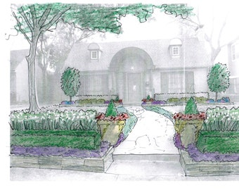 Traditional Southern Landscape Design for Front and Back Yard