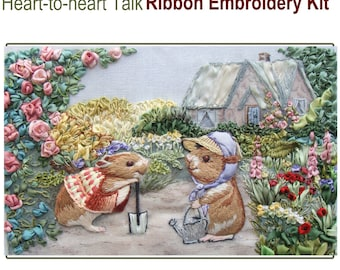 Heart-to-heart Talk ribbon embroidery kit